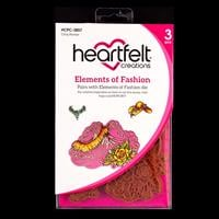 Heartfelt Creations Elements of Fashion Cling Stamp Set - 3 Stamp-894161