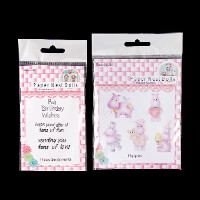 Paper Nest Dolls Hippo Stamp Set with Sentiments   8 Stamps in To-896556