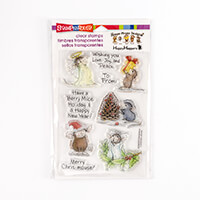 Stampendous House Mouse Merry Mice Clear Stamp Set-896981