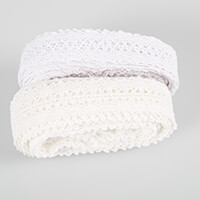 Eleganza Georgian White & Ivory Lace - 27mm x 10m-897372