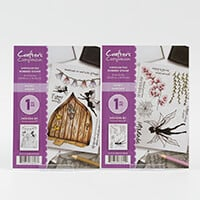 Crafters Companion A6 Rubber Stamps - Fairy Door & Fairy Garden-898401