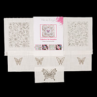 Pink Ink Designs Set Of 4 Mini Butterflies, Floral Elements and L-899455