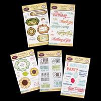 JustRite® 5 x Stamp Sets - Sentiments, Label Eight, Antique Autum-901302