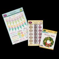 JustRite® 3 x Stamp Sets - Christmas Wreath, Embroidered & Buntin-904148