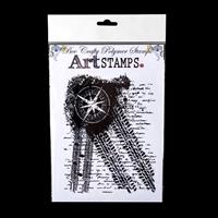 Bee Crafty XL Art Stamps - Compass Tracks - 1 Stamp -14.3cm x 18.-906439
