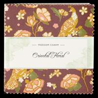 Fabric Freedom Oriental Floral Charm Pack 42 x 5