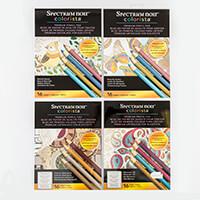 Spectrum Noir Colorista A4 Pencil Pads x 4 -  Complete Collection-906836
