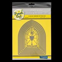 Clarity Fresh Cut Peace & Love Nested Window Die Set - 6 Dies-907512