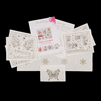 Pink Ink Designs Colour, Cut & Create Christmas Patterns - Makes -907542