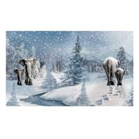 Empress Mills 65cm x 150cm Winter Elephant Jersey Digital Print P-910207