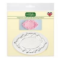 Katy Sue Designs Decorative Plaque Silicone Mould - Oval Hearts-912312