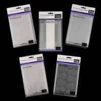 Set of 5 A5 Embossing Folders -  Dandelion, Cards, Poinsettia & M-912648