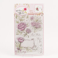Wild Rose Studio Antique Roses A5 Stamp Set-912684