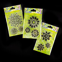 Studio Light 3 x Mixed Media Stamp Sets - Floral Collection - 9 S-912740