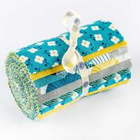 "Threaders - Tokyo Blue - 5"" 18-Piece Fabric Strip Roll-913502"