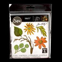 Sizzix® Thinlits™  Set of 6 Dies - Funky Floral by Tim Holtz®-914448