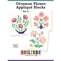 Quilter's Trading Post Ottoman Flower Applique Blocks - Set 2 Pat-914883