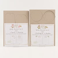 Which Craft? Grey Board Set 3 and 4 - Classic Tags, Bunting, Joll-915335