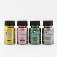 Imagination Crafts Starlight Paints 4 x 50ml Jars - Chartreuse, D-919170