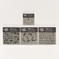 Artistic Flair Set of 4 Past Times Stencils - 3 x 6