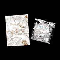 Search Press Set of 2 Colouring Books - Tangle Wood & Tangle Bay-922786