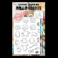 AALL & Create A6 Stamp Set - Quirks - 21 Stamps-923296