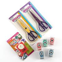 Paper Crafting Punch & Scissor Collection - 2 x Scissors with 6 P-924078