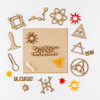 Samantha K Chemical Set - Plaque, Explosions, MDF Accessories, Si-924575