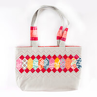 Lina Patchwork EPP Annika Bag Pattern with Paper Pieces-924582