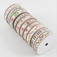 Craft Buddy Set of 10 Reels of Vintage Linen Ribbon - 100m Total-925033