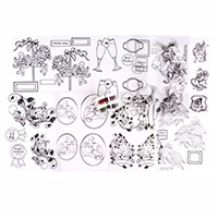 Glitter Magic Acetate Kit - Celebrations - 8 x Acetates & 4 x Jar-926219