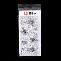 Hobby Art Star of Bethlehem Flower DL Clear Stamp Set - 9 Stamps-926541