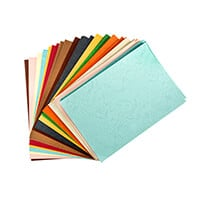 Pack of A4 Assorted Cardstock -  20 Colours 4 of Each Colour -  8-926733