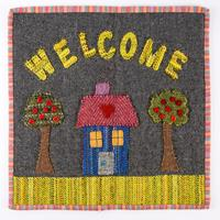 Fabric Affair 'Welcome' Wallhanging Kit - Fabrics, Pattern, Templ-928076