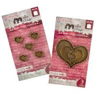 Spellbinders Media Mixage - 2 x Bronze Heart Embellishment Packs -931769