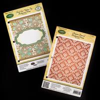 JustRite® 2 x Background Stamps - Autumn Damask & Floral Lace Vin-933495