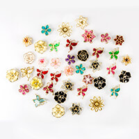 Craft Buddy 50 Assorted Coloured Fancy Flower & Butterfly Embelli-933772
