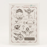 Chocolate Baroque Steampunkery A4 Stamp sheet-934897