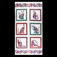 The Kilted Quilter Cattitude Panel 60x112cm - 100% Cotton-935603