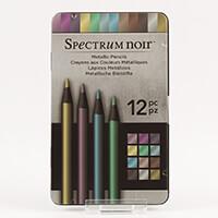 Spectrum Noir Set of 12 Metallic Pencils-936957