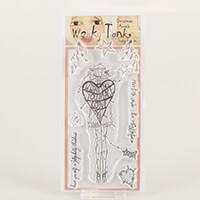 Which Craft? Wonky Tonk Angel DL Stamp Set - Meet Me Under The Mi-937046