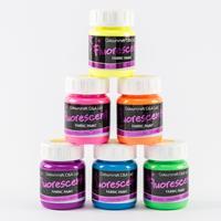 Colouricious Fluorescent Fabric Paints - 6 x 65ml-937627