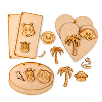 Karacter Krafts 18 Piece Bumper Pack - 6 x Plaques, 7 x Animal He-938574