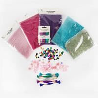 Glitterati Assorted Embellishment Selection - Thread, Beads, Tass-939444