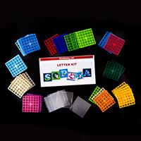 PixelHobby UK Letter Plaque Kit - 6 Mini Baseplates, 50 Pixelsqua-939460