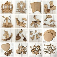 Olifantjie Illustrated Sarah Jane MDF Kits Mega Bundle with Embel-940541