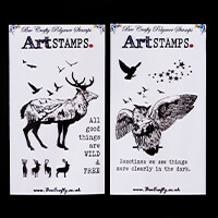 Bee Crafty Scenery Winter Animals Stamp Set - Owl and Stag - 10 S-942127