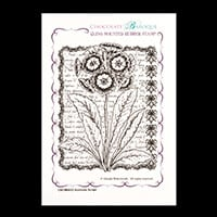 Chocolate Baroque Auricula Script A6 Cling Mount Rubber Stamp-944250