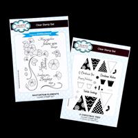 Creative Expressions 2 x Stamp Sets - Nasurtium Elements & Christ-944538