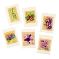 Rowandean Embroidery Garden Doodles Cards Kit - 6 Cards in Total-945957